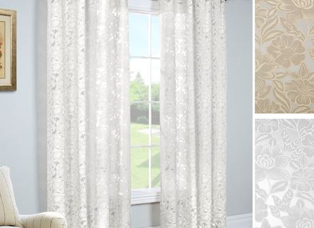 44 Sheer Curtain Panels, Best Home Fashion, Inc Mini Nature In Ombre Faux Linen Semi Sheer Curtains (View 49 of 50)