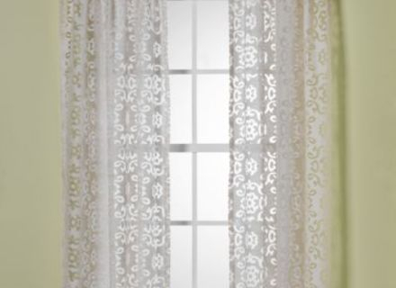 46 Burnout Curtain, Popular Burnout Sheer Curtains Buy Cheap Intended For Wilshire Burnout Grommet Top Curtain Panel Pairs (#3 of 45)