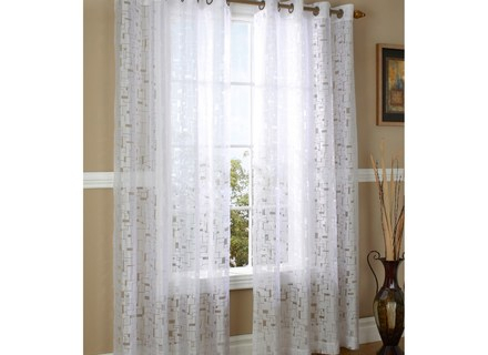 46 Burnout Curtain, Popular Burnout Sheer Curtains Buy Cheap With Wilshire Burnout Grommet Top Curtain Panel Pairs (#4 of 45)