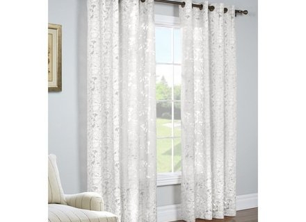 46 Burnout Curtain, Popular Burnout Sheer Curtains Buy Cheap Within Wilshire Burnout Grommet Top Curtain Panel Pairs (#5 of 45)