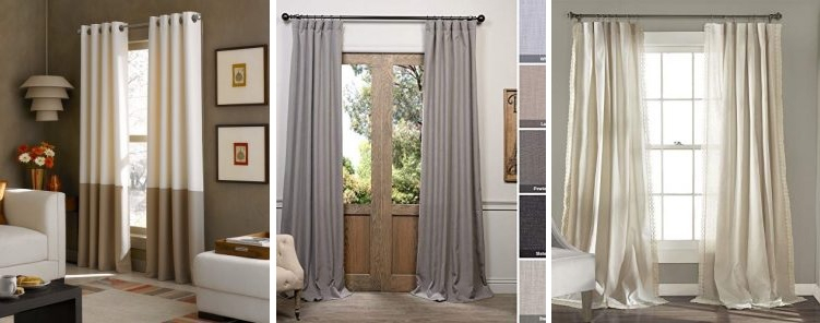 50+ Farmhouse Drapes And Rustic Drapes – Farmhouse Goals Throughout Sugar Creek Grommet Top Loha Linen Window Curtain Panel Pairs (View 15 of 50)
