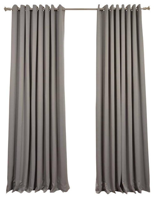 50 Most Popular Curtains And Drapes For 2019 | Houzz Inside Grainger Buffalo Check Blackout Window Curtains (View 2 of 50)