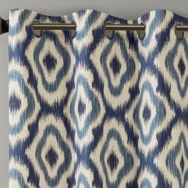 50X108 Aqua Ink+Ivy Ankara Cotton Printed Panel Hashtagsyria For Ink Ivy Ankara Cotton Printed Single Curtain Panels (View 36 of 50)
