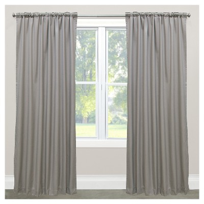 "50""x108"" Shantung Room Darkening Window Curtain Panel Gray With Regard To Copper Grove Speedwell Grommet Window Curtain Panels (#1 of 50)"
