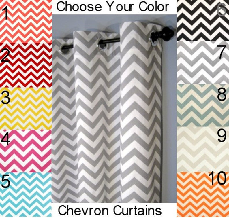 "Inspiration about 50X84"" Blackout Chevron Grommet Curtains – Two Curtain Panels You Pick The  Color – 50""x84"" – Free Shipping In Chevron Blackout Grommet Curtain Panels (#16 of 50)"