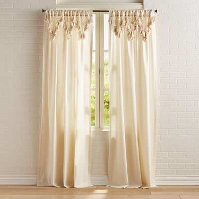 50X95 – Priya Solid Fashion Curtain Natural – Vue Elements Throughout Vue Elements Priya Tab Top Window Curtains (View 3 of 36)