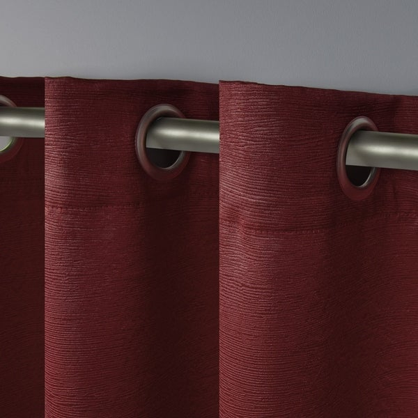 Inspiration about 52X63 2 Piece Chili Exclusive Home Oxford Textured Sateen For Thermal Woven Blackout Grommet Top Curtain Panel Pairs (#29 of 43)