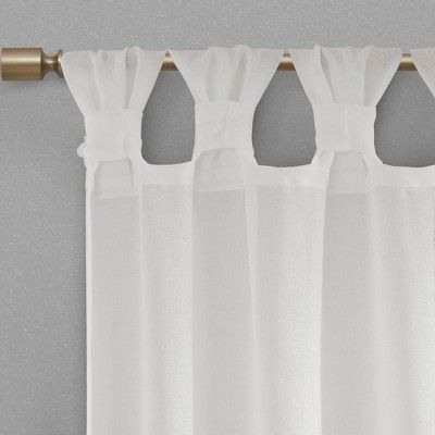 "52""x63"" Washed Cotton Twist Tab Curtain Oatmeal – Archaeo For Archaeo Washed Cotton Twist Tab Single Curtain Panels (View 2 of 21)"