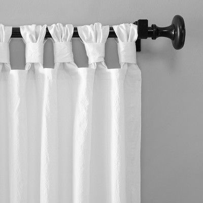 "Inspiration about 52""x63"" Washed Cotton Twist Tab Curtain White – Archaeo Within Elowen White Twist Tab Voile Sheer Curtain Panel Pairs (#16 of 36)"
