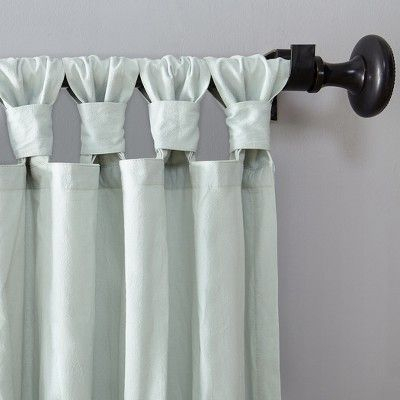 "52""x95"" Washed Cotton Twist Tab Curtain Seafoam – Archaeo In With Archaeo Washed Cotton Twist Tab Single Curtain Panels (View 8 of 21)"