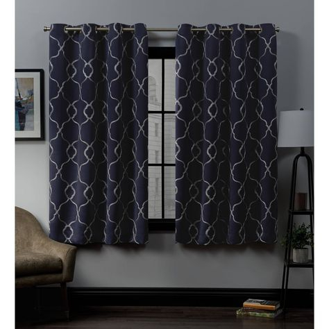 """Inspiration about 52""""x96"""" Belmont Embroidered Grommet Top Blackout Window Inside The Curated Nomad Duane Jacquard Grommet Top Curtain Panel Pairs (#12 of 50)"""