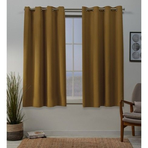 "52""x96"" Sateen Woven Blackout Grommet Top Window Curtain Intended For Copper Grove Speedwell Grommet Window Curtain Panels (#2 of 50)"