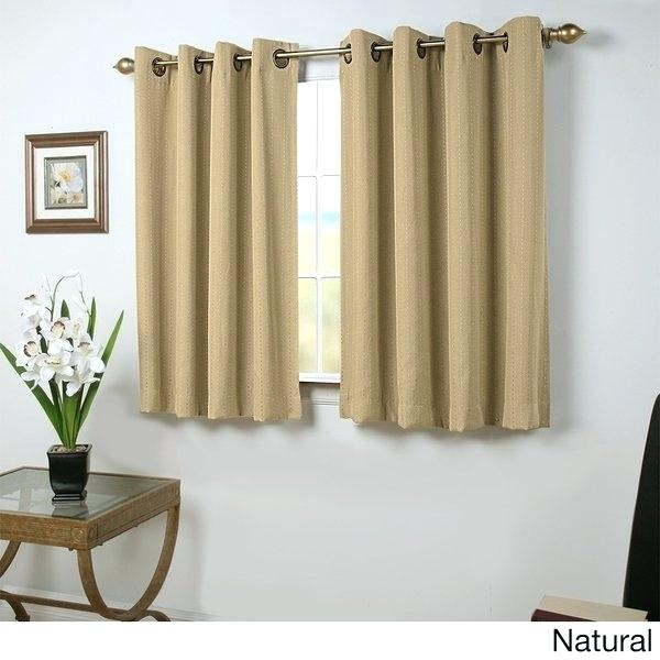 Inspiration about 54 Inch Length Blackout Curtains Throughout Ultimate Blackout Short Length Grommet Curtain Panels (#30 of 50)