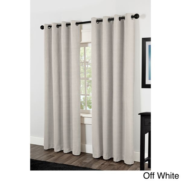 Popular Photo of Raw Silk Thermal Insulated Grommet Top Curtain Panel Pairs
