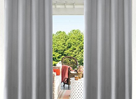 Inspiration about 56 Patio Gazebo Cabana Curtains, Cololeaf Outdoor Curtain With Valencia Cabana Stripe Indoor/outdoor Curtain Panels (#17 of 37)