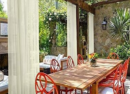 Inspiration about 56 Patio Gazebo Cabana Curtains, Cololeaf Outdoor Curtain With Valencia Cabana Stripe Indoor/outdoor Curtain Panels (#14 of 37)