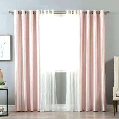 6 Piece Faux Silk Window Curtain Panels Hot Pink Black For Inside Faux Silk Extra Wide Blackout Single Curtain Panels (View 1 of 50)