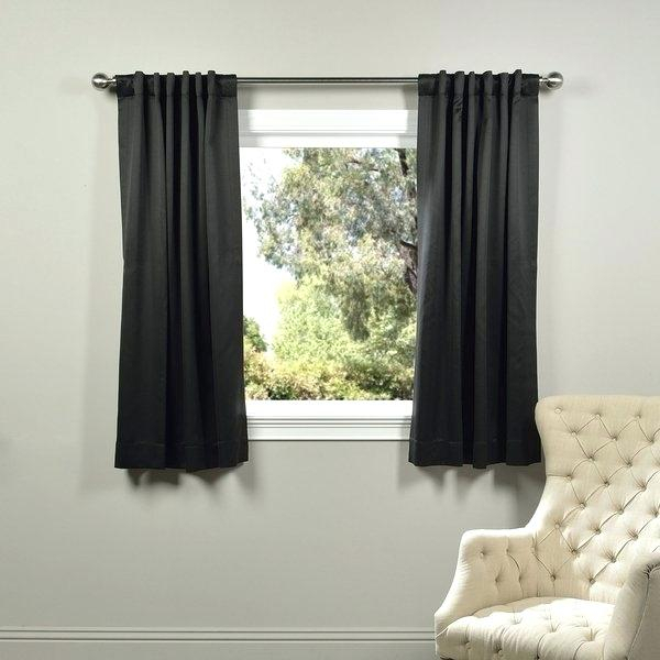 63 Inch Curtain Panel Pair Sherry Luxury Embroidered Rod In Solid Thermal Insulated Blackout Curtain Panel Pairs (View 39 of 50)
