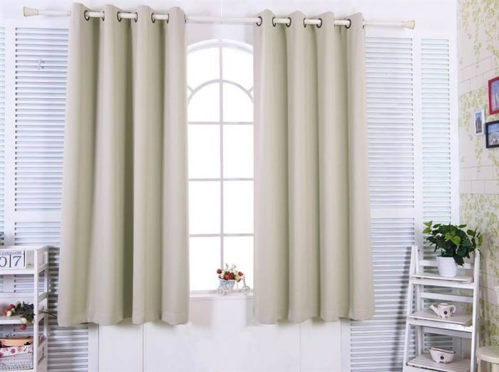 """63"""" Tripoli Premium Solid Insulated Thermal Blackout Grommet Window Panels  In Oyster – Elegant Home Fashions Wc Chb02 63 Inside Blackout Grommet Curtain Panels (View 3 of 40)"""