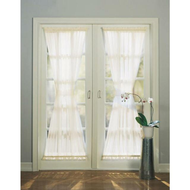 72 In White Polyester Rod Pocket Light Filtering Sheer Single Curtain Panel With Regard To Light Filtering Sheer Single Curtain Panels (#2 of 38)