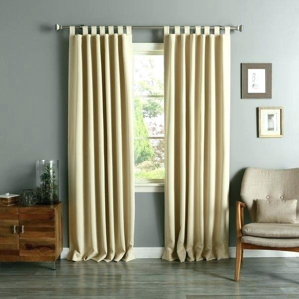 Inspiration about 95 Curtain Panels Inch Aurora Home Tab Top Thermal Insulated Throughout Thermal Insulated Blackout Curtain Panel Pairs (#17 of 50)