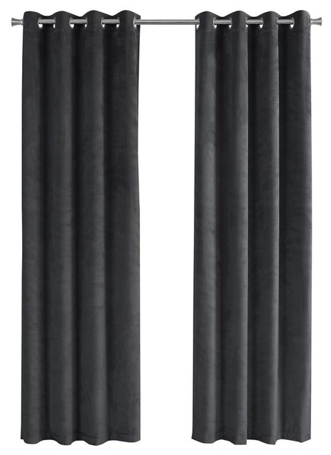 Inspiration about 95 In. Room Darkening Curtain Panel In Gray – Set Of 2 Inside Grommet Room Darkening Curtain Panels (#45 of 50)