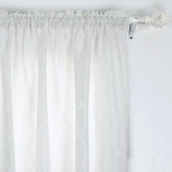 95 Inch White Blackout Curtains Curtain Panels Long Sheer In Meridian Blackout Window Curtain Panels (#7 of 50)