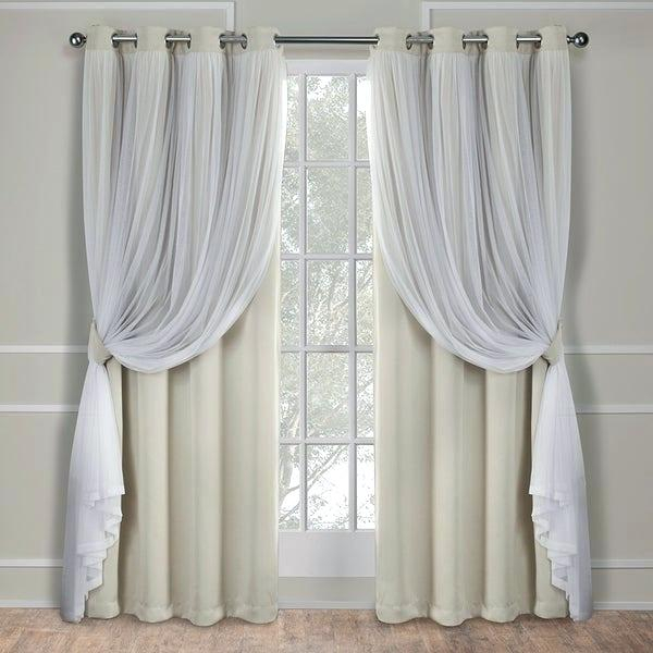 96 In Curtains In Ocean Striped Window Curtain Panel Pairs With Grommet Top (#3 of 41)