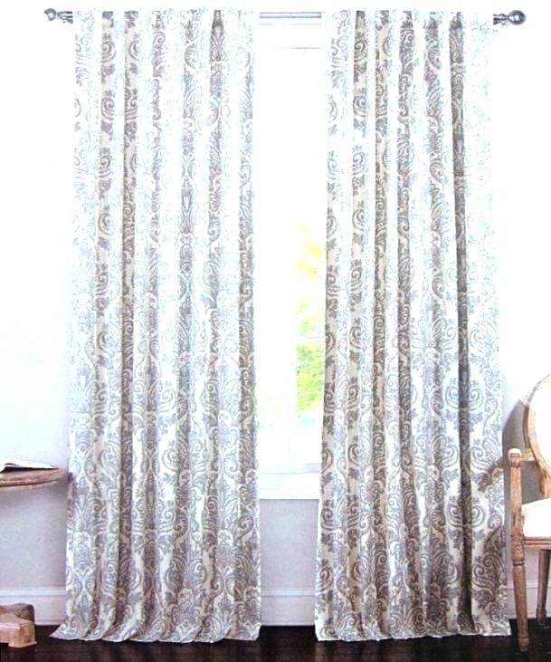 96 Inch Drop Curtains With Lambrequin Boho Paisley Cotton Curtain Panels (View 3 of 41)