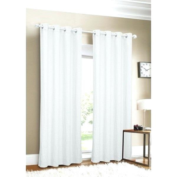 Inspiration about 96 Inch Linen Curtains – Socialglobe.co For Baroque Linen Grommet Top Curtain Panel Pairs (#26 of 48)