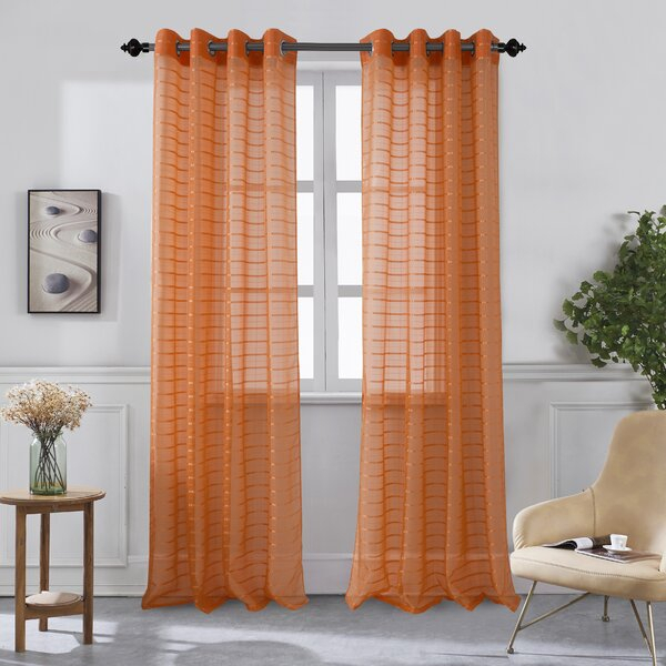 Inspiration about 96 Inch Long Curtains | Wayfair Intended For Luxury Collection Cranston Sheer Curtain Panel Pairs (#6 of 42)