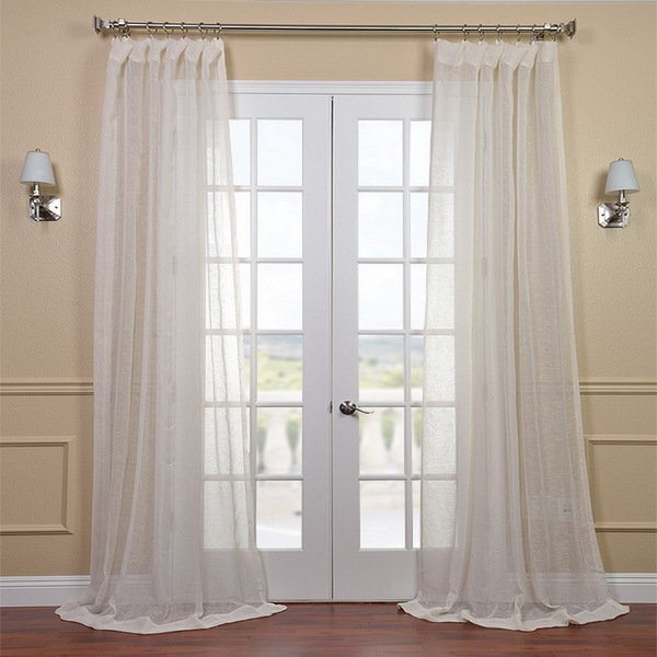 Inspiration about 96 Inch Sheer Curtain Panels – Humanetalk With Penny Sheer Grommet Top Curtain Panel Pairs (#36 of 49)