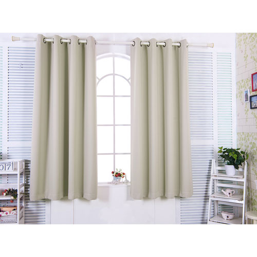 96 Inch Tripoli Premium Solid Insulated Thermal Blackout Grommet Window  Panels, Oyster Intended For Twig Insulated Blackout Curtain Panel Pairs With Grommet Top (#6 of 50)