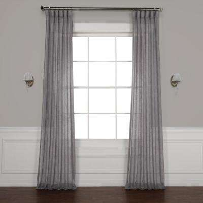Inspiration about 96 Sheer Curtain – Earndollarsus With Regard To Ombre Faux Linen Semi Sheer Curtains (#38 of 50)