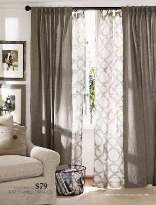 A Modern Take On Curtains For The Living Room In 2019 | Home Pertaining To Double Layer Sheer White Single Curtain Panels (View 9 of 50)