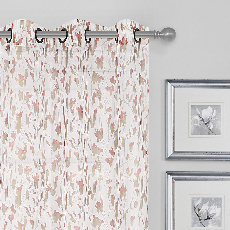 Abigail Printed On Crushed Voile Grommet Curtain Panel Pair, 2 Pcs (View 2 of 26)