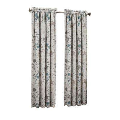 Abington Floral Printed Room Darkening Curtain Panel Pertaining To Hayden Rod Pocket Blackout Panels (View 9 of 43)