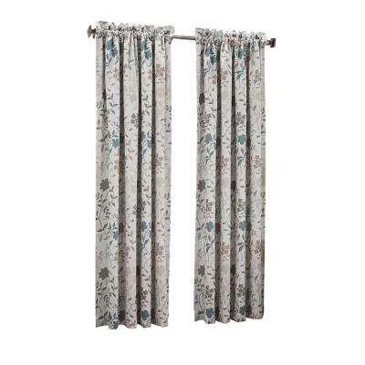 Abington Floral Printed Room Darkening Curtain Panel Pertaining To Hayden Rod Pocket Blackout Panels (#9 of 43)