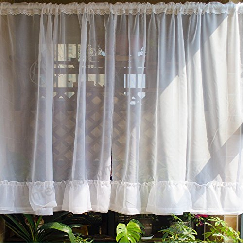 Abreeze 1 Panel Voile Sheer Curtains Ruffled Cafe Curtains Within Sheer Voile Ruffled Tier Window Curtain Panels (View 8 of 50)