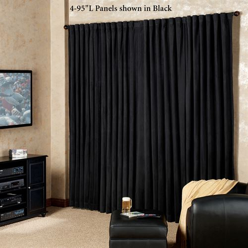Absolute Zero Eclipse Home Theater Blackout Curtain Panels Within Solid Cotton True Blackout Curtain Panels (#4 of 50)