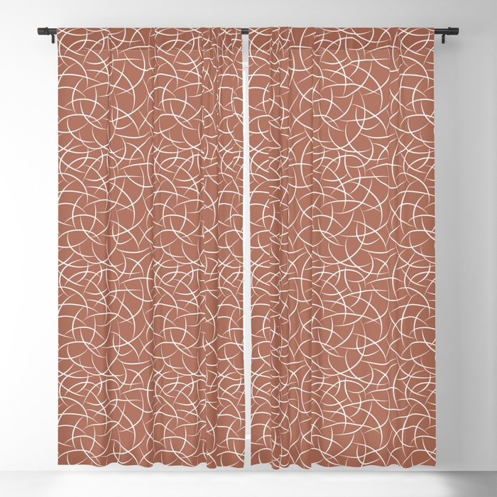 Abstract Crescent Shape Moon Pattern Pairs With Sherwin Williams Color Of  The Year 2019 Cavern Clay Blackout Curtainpipafineart In Abstract Blackout Curtain Panel Pairs (View 5 of 46)