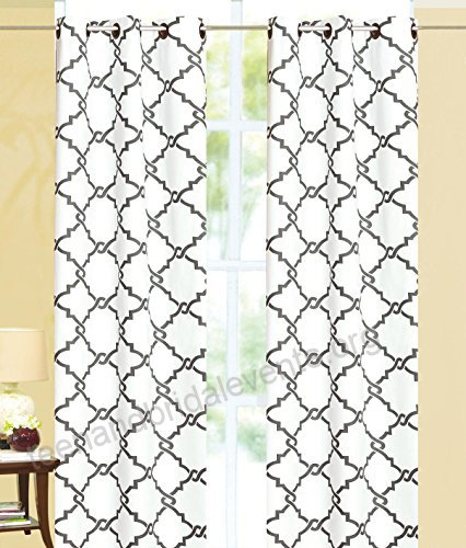 Ace 21 Geometric Modern Print Insulated 100% Thermal Pertaining To Geometric Print Textured Thermal Insulated Grommet Curtain Panels (View 1 of 45)