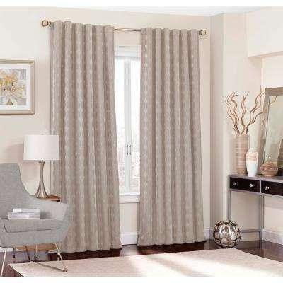 Adalyn Blackout Window Curtain Panel In String – 52 In. W X 108 In (View 1 of 41)