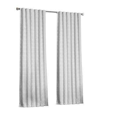 Adalyn Blackout Window Curtain Panel In White – 52 In. W X 108 In (View 3 of 37)