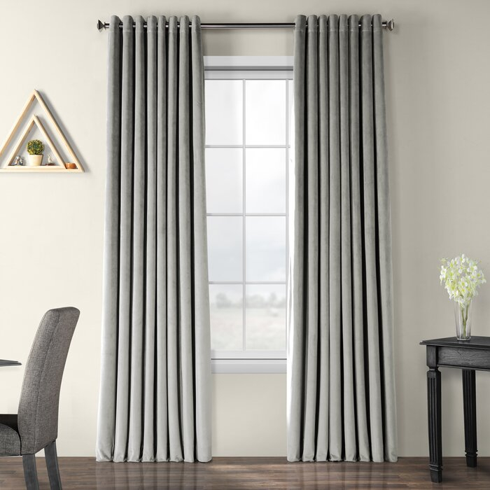 Adamsville Blackout Single Curtain Panel Throughout Warm Black Velvet Single Blackout Curtain Panels (#2 of 48)