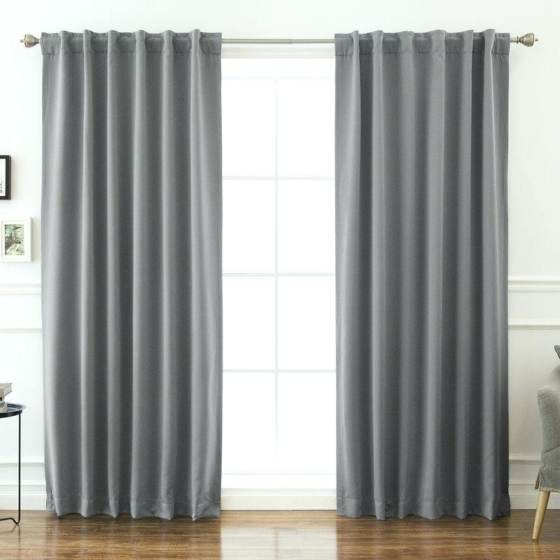 Adorable Curtain Panels Lined With Grommets Door Panel For Superior Solid Insulated Thermal Blackout Grommet Curtain Panel Pairs (#10 of 45)