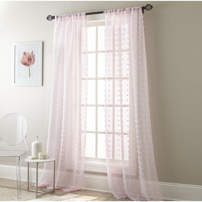 Aesara Solid Color Sheer Rod Pocket Curtain Panels Throughout Rod Pocket Curtain Panels (View 1 of 34)
