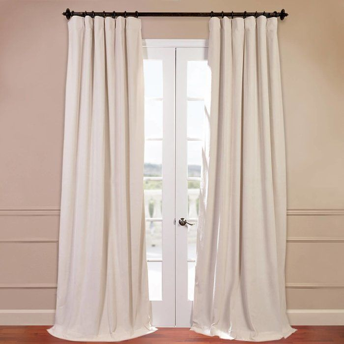 Albert Polyester Blackout Single Curtain Panel In 2019 With Signature Ivory Velvet Blackout Single Curtain Panels (#2 of 50)