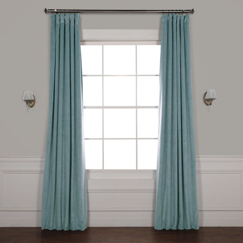 Albert Polyester Blackout Single Curtain Panel | Interior Intended For Signature Pinch Pleated Blackout Solid Velvet Curtain Panels (View 19 of 50)