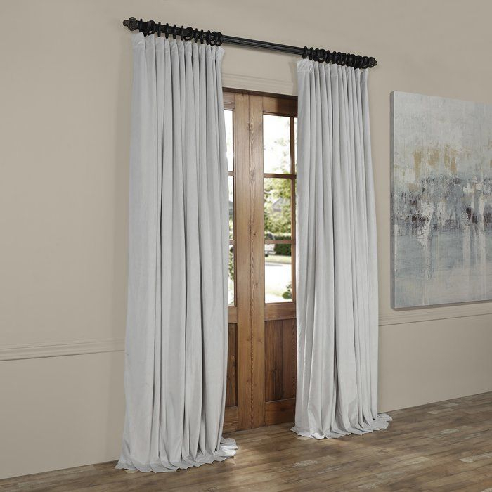 Albert Velvet Solid Blackout Thermal Rod Pocket Single Throughout Faux Silk Extra Wide Blackout Single Curtain Panels (View 2 of 50)